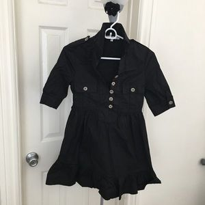 Dresses & Skirts - Sexy cotton mini shirt dress